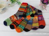 日系民族风复古粗线袜子秋冬袜子厂家直销