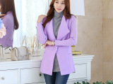 2014秋冬新款毛呢外套女装韩版大码呢子短外套女士羊毛呢大衣