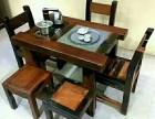 百年古船木老板椅靠背椅茶台茶桌椅实木茶桌椅原生态泡茶桌椅
