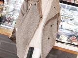 2014秋冬新款毛呢大衣 女斗篷中长款韩版时尚个性大衣批发代理