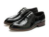 2015新款皮鞋男士商务正装皮鞋真皮系带漆皮高档优质头层牛皮男鞋