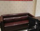 办公红实木桌,加真皮沙发