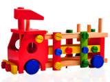 奇趣木制玩具厂家批发 拆装螺丝车 儿童益智力早教木制消防玩具