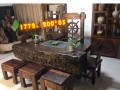 老船木家具 龙骨海螺孔茶台茶椅厂家直销