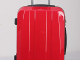 2013最新热销款大红色PC拉杆航空箱 ABS登机箱行李箱包女