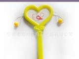 益智玩具 塑料拔浪鼓 心形小摇鼓 节日派对礼品 儿童赠品小玩具