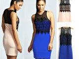 2014春夏爆款欧美风女装新款蕾丝刺绣连衣裙女式新品时尚修身短裙