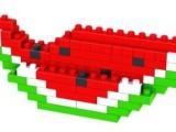 俐智正品loz小颗粒迷你钻石积木 拼装儿童益智力玩具9292西瓜