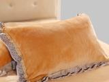 2013新品韩版法兰绒四件套 床裙式 枕