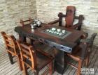 日喀则市老船木茶桌椅子仿古茶台实木沙发茶几餐桌办公桌家具案台