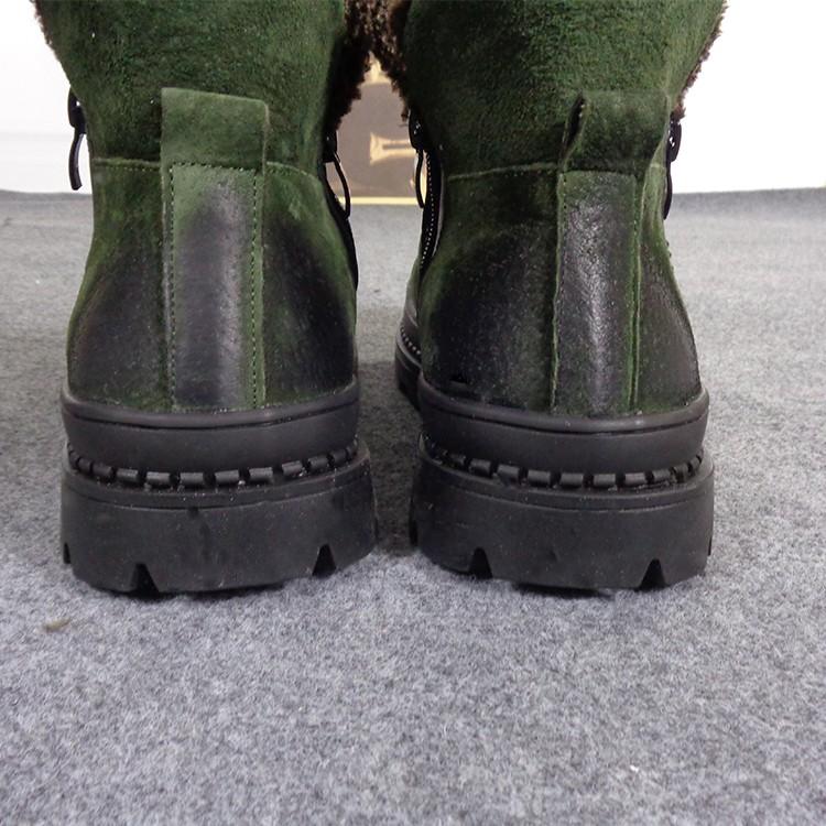 秋冬英伦复古休闲靴子男保暖加棉切尔西靴反绒皮懒人套脚短靴拉锁