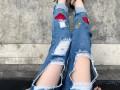 外贸精品货源牛仔裤批发 低价甩货处理工厂杂款牛仔裤混批牛仔裤