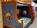 地中海实木儿童床双层子母床