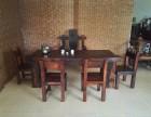 老船木功夫茶桌 古典茶台 泡茶桌椅组合