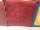 寺院寺庙佛堂吊顶天花板装修木纹色仿古建筑彩绘装饰建材材料