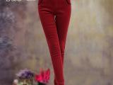 2014新加绒加厚秋冬季纯棉外穿打底裤女士大码女装潮女式长裤子
