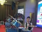 小孩子架子鼓表演
