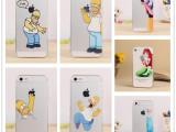 厂家直销 iPhone5S/4S辛普森彩绘PC磨砂硬壳浮雕手机壳