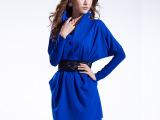 2015新款外套女装韩版修身显瘦百搭秋冬系腰女式中长款针织风衣女