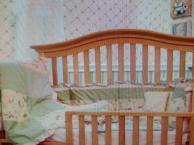 贝乐堡婴儿床 可变成成人床 送床垫