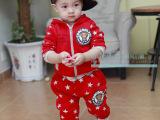 丹若米小童冬装宝宝衣服儿童卡通加厚加绒套装男孩运动卫衣可开档