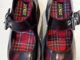 潮品道 超高回头率 大圆头系带复古厚底松糕鞋 洛丽塔搭扣女鞋子