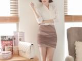 2014秋装新款韩版连衣短裙 包臀性感职业打底裙 雪纺连衣裙女