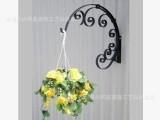 铁艺壁挂花架户外阳台吊篮架花吊架 挂钩 花盆挂架 吊篮支架