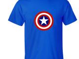 美国队长Captain America超级英雄复仇者联盟圆领纯棉