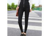 超高腰打底裤外穿秋小脚裤女士显瘦弹力紧身长裤子黑色高腰铅笔裤