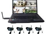高清无线家庭套装 无线监控摄像头 4路电脑同步监控摄像机四画面
