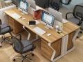 时尚办公家具办公桌单人位简约8人双人职员桌员工工位电脑桌卡座