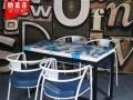 厂家销售酒吧咖啡厅桌椅 复古办公桌椅 餐厅实木桌椅