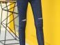 安徽蚌埠女装韩版修身黑色牛仔裤批发厂家直销女式小脚裤批发