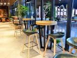 西安咖啡厅单人沙发小圆桌咖啡厅吧桌椅定做厂家