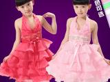 儿童雪纺吊带舞蹈裙花边网纱蛋糕裙女童表演服装主持人演出服礼服
