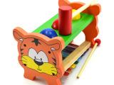 木制玩具手八音琴小狗敲琴木制车打