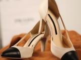 2014新款欧洲站真皮高跟尖头低帮鞋女欧美时尚拼色牛皮白领女凉鞋