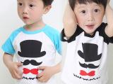 2015夏季新款男童女童宝宝短袖T恤 婴幼儿小童打底衫童装一件待