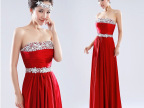 2014新款婚纱礼服 新娘长款红色礼服 苏州礼服厂家批发可定做多色