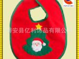 【迪士尼授权工厂生产】无纺布绣花儿童圣诞围兜 圣诞围嘴