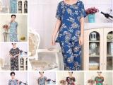 厂家直销中老年夏季装冰丝奶奶装两件套女装短袖套装衣服