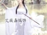 古装服装仙女 小龙女白色古装女演出服戏服