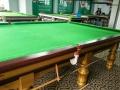 品牌二手台球桌 百能斯诺克台球桌金色款9.6成新