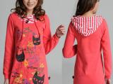 2014新款女春秋卫衣套头绒衣外装韩版外贸服装原单尾货库存低价