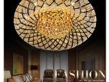 奢华大气LED水晶圆形吸顶灯欧式客厅水晶灯卧室灯具餐厅灯饰