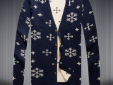 新款针织毛衣男开衫 韩版修身V领线衫 薄款潮男士毛线衣外套批发