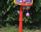 厂家直销幼儿园用品可升降立式篮球架儿童室内外卡通塑料篮球架