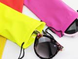 糖果色五彩缤纷太阳?平光眼镜布袋 防水眼镜袋