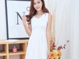 2014 新款韩版女装春夏季V领包臀修身连衣裙百搭时尚打底裙